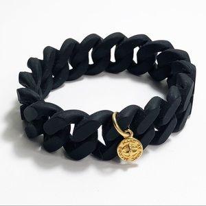Marc by Marc Jacobs Black Rubber Bracelet